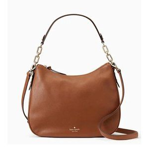 KATE SPADE Brown leather Hobo Crossbody